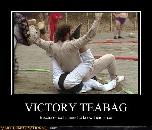 VICTORY TEABAG Because noobs need to know their place