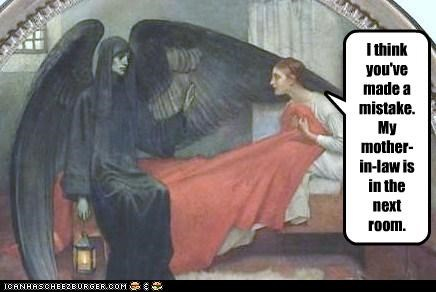 angel,bed,Death,mistake