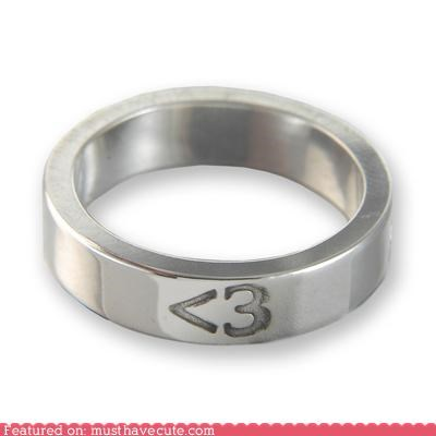 3 accessory heart Jewelry less than three love ring silver - 4202232832