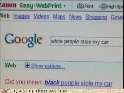 black car google its-not-a-bike racism white - 4202478080