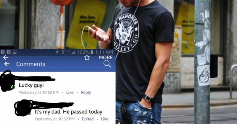 Ridiculously thirsty guy uses the death of a Facebook friend as an excuse to hit on him.