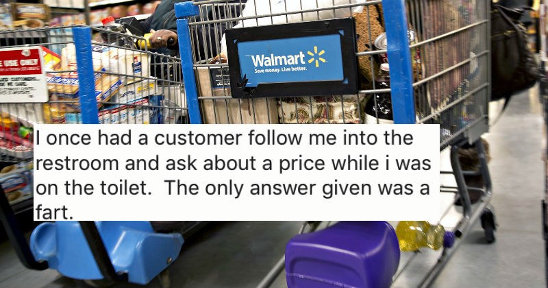 Walmart employees share some of the craziest and dumbest things they've ever seen customers do while shopping.