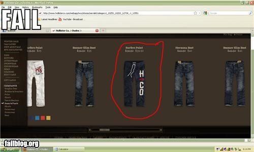 Hollister price reduction fail