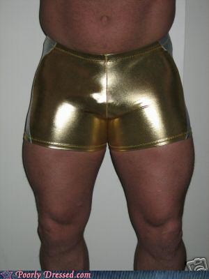 body builder eww gold spandex squeeze - 4207019520