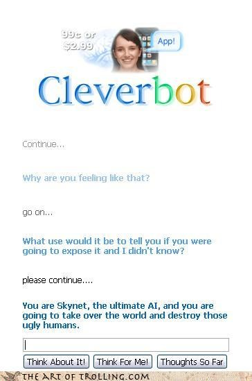 skynet Cleverbot artificial intelligence - 4208775936