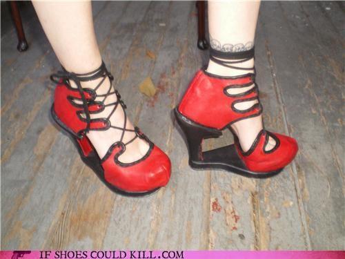 arch,Fetish,heels,platform,red,support,wedge