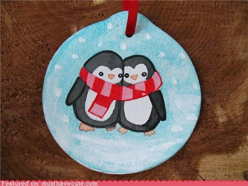 accessory animals art christmas clay ornament Painted tree Xmas