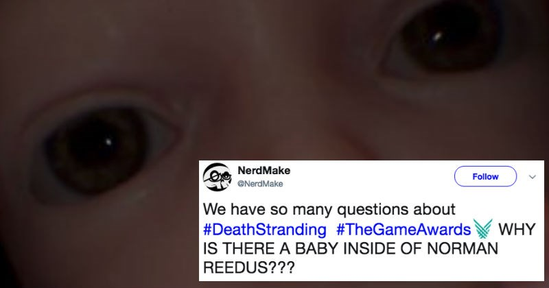 Creepy baby from Death Stranding video game is already a meme and the internet's horrified.