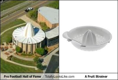 building,football,fruit strainer,Hall of Fame,utensil