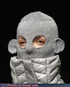 fashion model monkey ski mask wtf