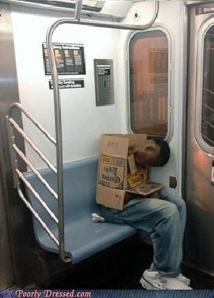 box,corona,passed out,Subway
