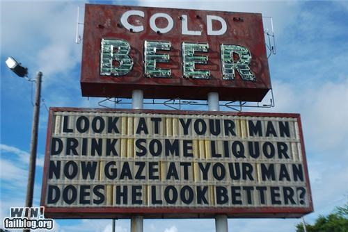 awesome at work beer sign - 4212931584