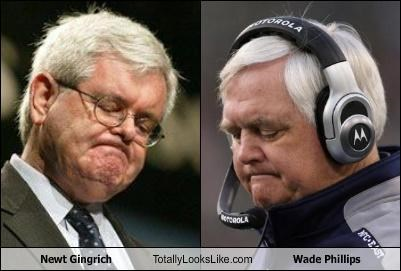 coach newt gingrich politics sports wade phillips