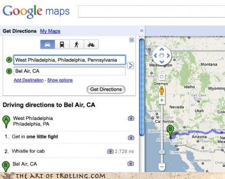 bel air google Maps NOWWW this is a story all about how sing along trolls smell ya later whistle - 4212960512