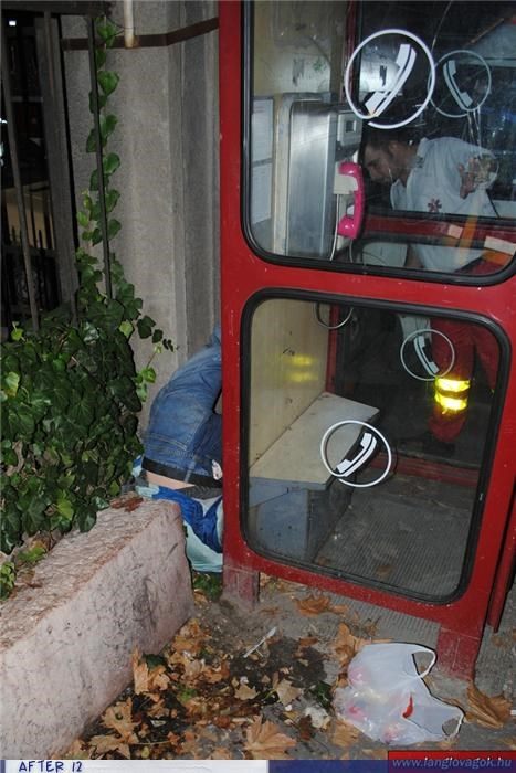flexible passed out stuck telephone booth - 4212994560