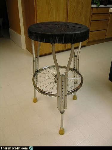 chair,crutches,stool