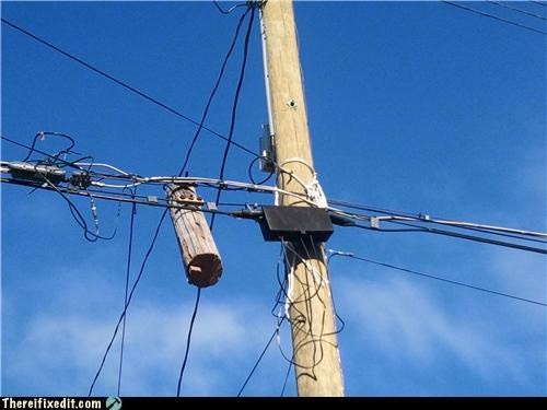 electricity log Professional At Work wood - 4213173760