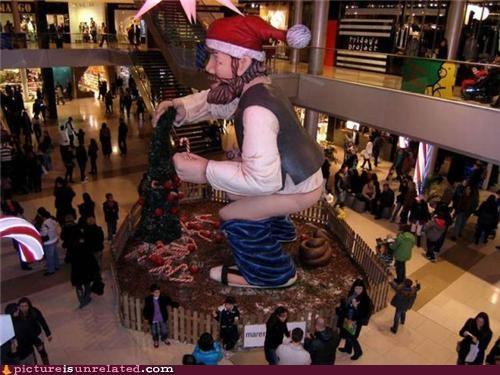 art holidays poop puns santa wtf - 4213412608