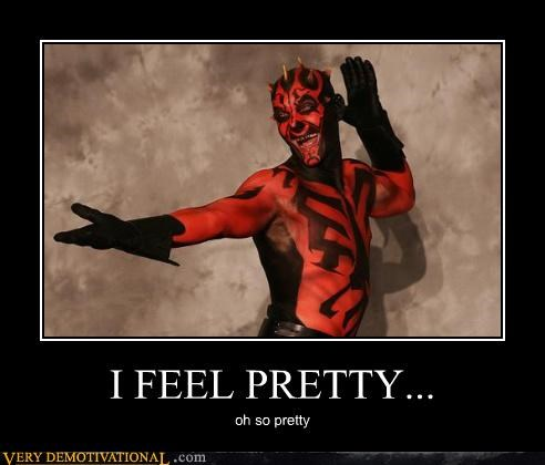 darth maul,i feel pretty,star wars,wtf
