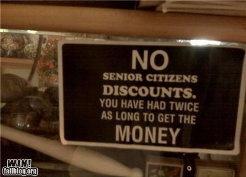 awesome at work,discount,senior citizens,signs