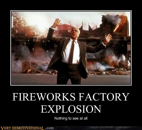 FIREWORKS FACTORY EXPLOSION Nothing to see at all