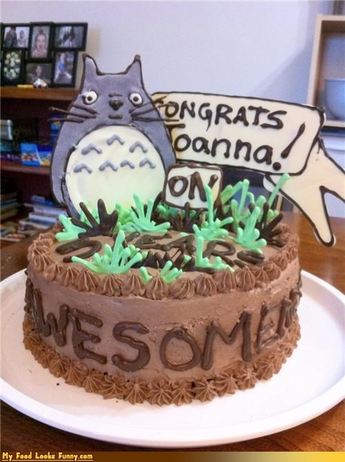 anime,cake,congrats,Japan,my neighbor totoro,Sweet Treats,totoro