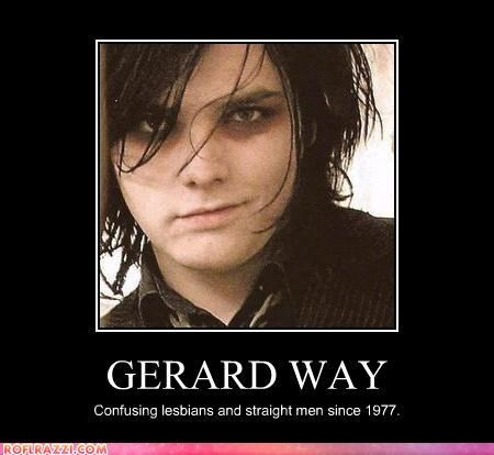 androgyny,demotivational,funny,gerard way,lolz