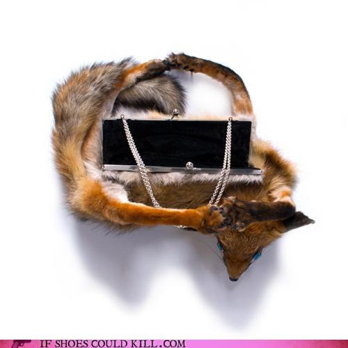 Animalia,cool accessories,fox,handbag,purse,reid peppard,taxidermy