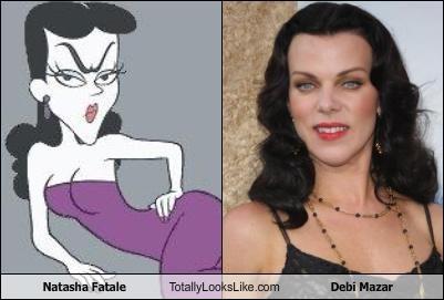 actress,debi mazar,natasha fatale,rocky and bullwinkle
