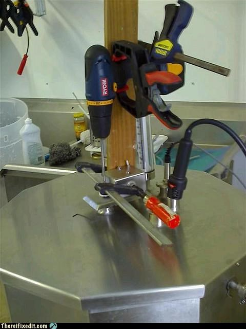 clamps drill Professional At Work tools - 4214470912