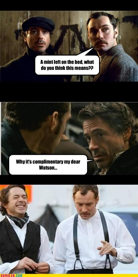 From the Movies jude law lol mints puns robert downey jr sherlock holmes - 4214732544