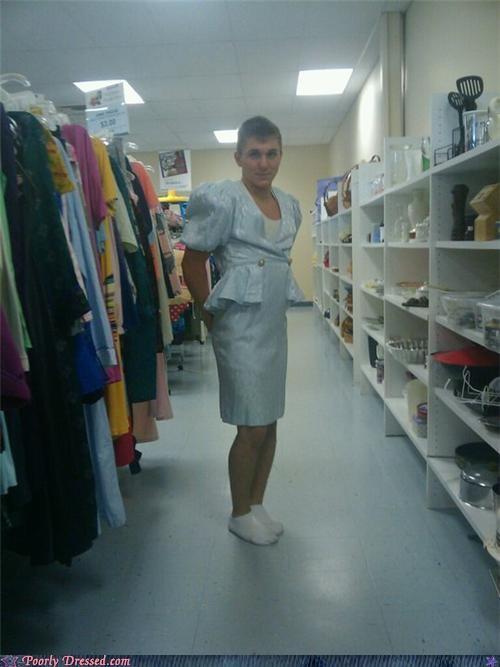 crossdressing dress old school thriftstore - 4214796032