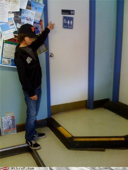 bathroom door handicap stairs - 4216193280