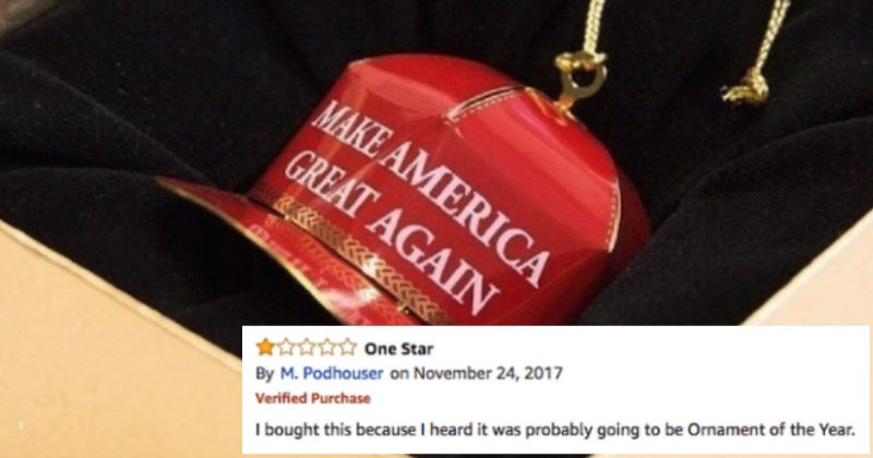 Trump MAGA ornament's getting mercilessly roasted on Amazon with hilarious reviews.