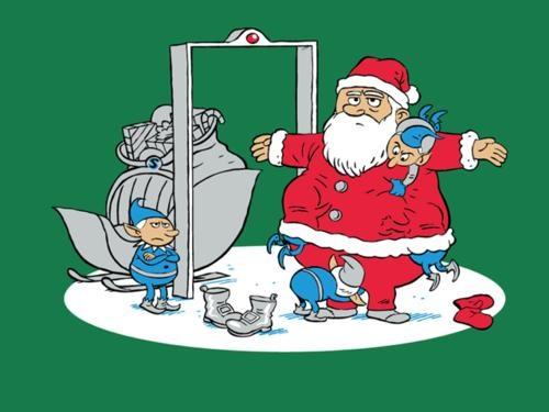 creepy,elf,santa,sleigh,TSA