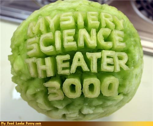 carved comedy fruits-veggies geeky melon movies mst3k - 4216487680