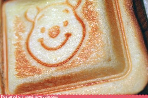 bear epicute face pooh pooh bear sandwich winnie the pooh - 4216491008