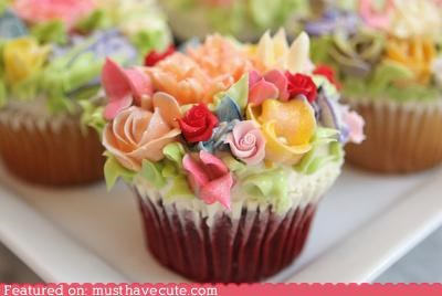 cupcakes epicute flowers fondant garden girly gorgeous gumpaste tea party - 4216498688