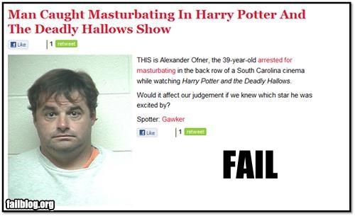 failboat Harry Potter masturbating moveis Probably bad News puns wands - 4216949760