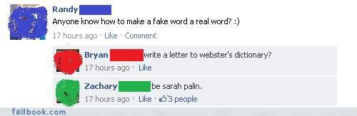 everyone is laughing lol oh snap Sarah Palin win witty comebacks