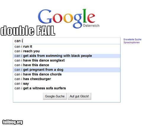 Autocomplete Me disease double failboat google pregnancy really search