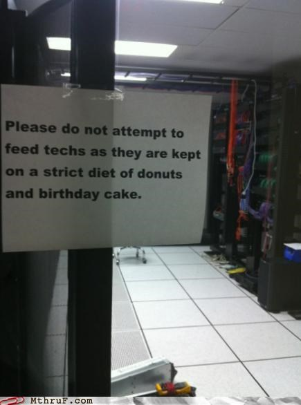 cake diet donuts it department signs zoo