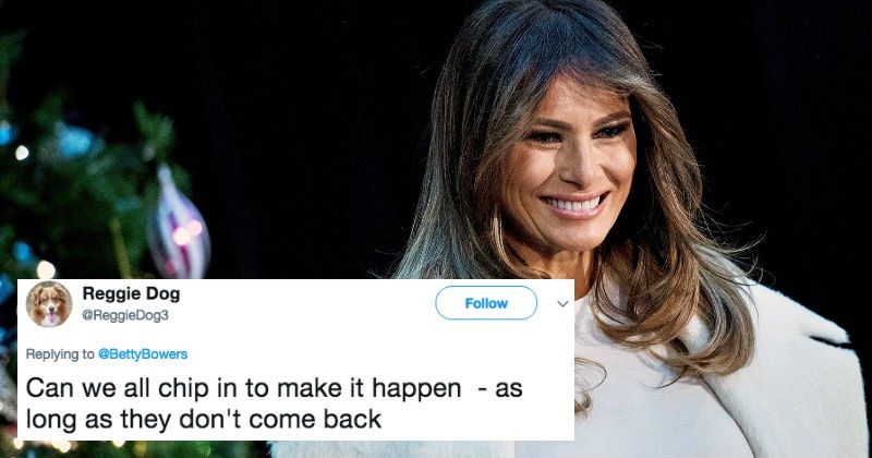 Melania Trump gives her one Christmas wish and proceeds to get trolled mercilessly by Twitter.