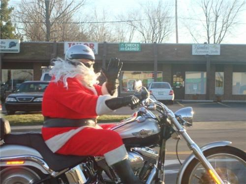 beard,motorcycle,safety,santa