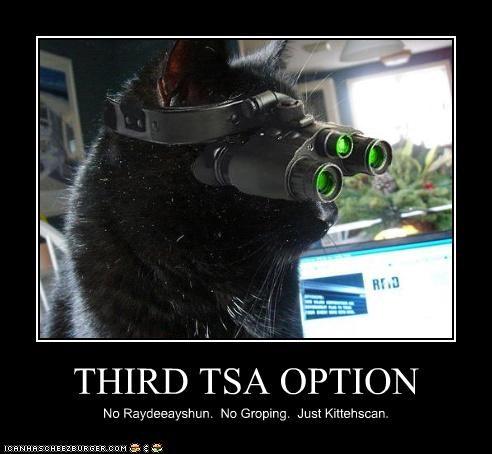 THIRD TSA OPTION No Raydeeayshun. No Groping. Just Kittehscan.