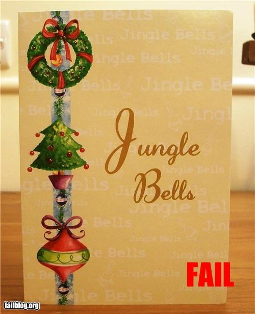 card failboat g rated holiday jingle bells spelling - 4218482688