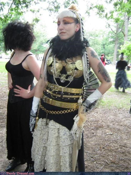 belts,dress,gold,makeup,ren fair