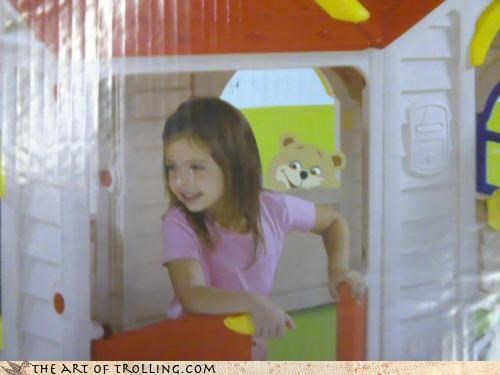 house IRL kids packaging pedobear toys