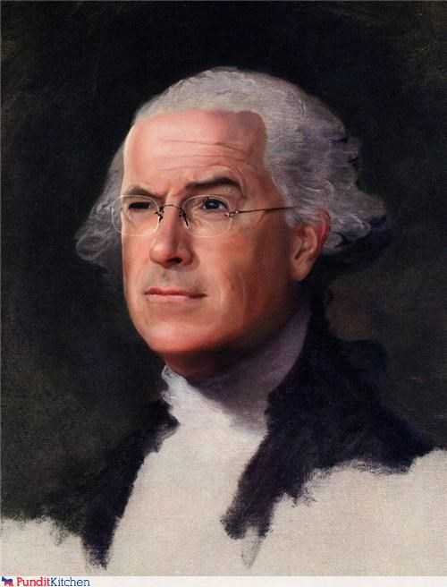 art funny george washington stephen colbert - 4219631616