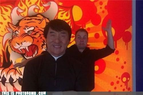 chop Jackie Chan karate photobomb sucker